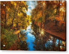Fall Filtered Reflections Acrylic Print