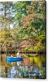 Acrylic Print featuring the photograph Fishing Reflection by Debbie Green