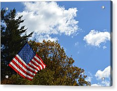 Fall Flag Acrylic Print