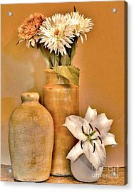 Fall Floral Bouquets Acrylic Print by Marsha Heiken