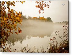 Fall Foggy Day  Acrylic Print by Allan Millora