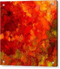 Fall Frolic Acrylic Print by Lourry Legarde