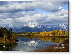 Fall Glory At The Oxbow Acrylic Print