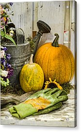 Fall Harvest Acrylic Print by Heather Applegate