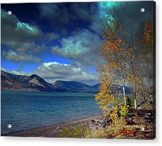 Acrylic Print featuring the photograph Fall In Jackson Lake by Irina Hays