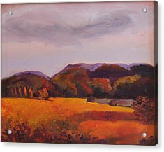 Acrylic Print featuring the painting Fall In New England by Rosemarie Hakim