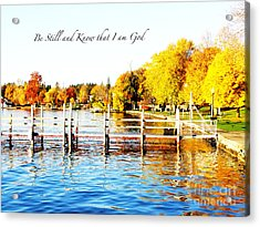 Fall In Skaneateles Ny Acrylic Print by Margie Amberge