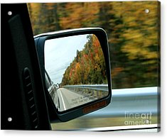 Fall In The Rearview Mirror Acrylic Print