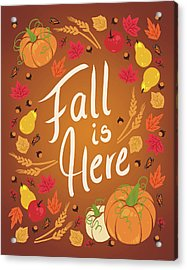 Fall Is Here Acrylic Print by Wild Apple Portfolio