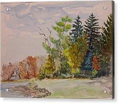 Fall Lake Lucille Acrylic Print