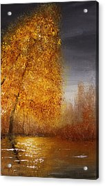 Fall Lake Reflections Acrylic Print