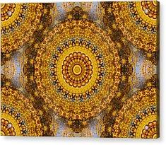 Acrylic Print featuring the digital art Fall Leaf Pattern by Aliceann Carlton