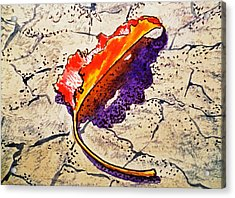 Fall Leaf Sketchbook Project Down My Street Acrylic Print by Irina Sztukowski
