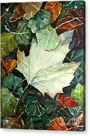 Fall Leaves Acrylic Print by Jennifer Apffel