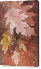 Acrylic Print featuring the painting Fall Leaves by Susan Crossman Buscho