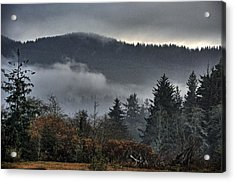 Fall Low Clouds And Fog Acrylic Print