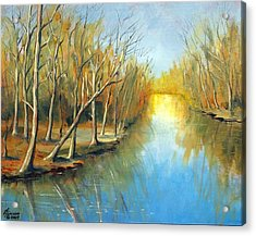 Acrylic Print featuring the mixed media Fall Mirror by Kenny Henson