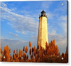 Fall Morning At Lighthouse Point Acrylic Print by Stephen Melcher