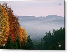 Fall Morning Acrylic Print by David Porteus