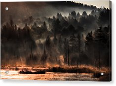 Fall Morning Fog Acrylic Print by Jeff Folger