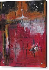 Acrylic Print featuring the painting Fall by Nicole Nadeau