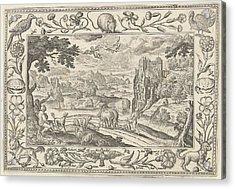 Fall Of Icarus, Adriaen Collaert Acrylic Print by Adriaen Collaert And Claes Jansz. Visscher (ii) And Eduwart Van Hoeswinckel