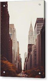Fall On 42nd Street Acrylic Print by Irene Suchocki