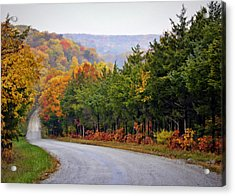 Fall On Fox Hollow Road Acrylic Print by Cricket Hackmann