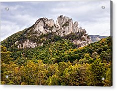 Fall On Seneca Rocks West Virginia Acrylic Print by Dan Carmichael