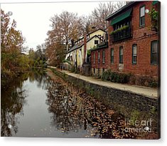 Fall On The Canal Acrylic Print