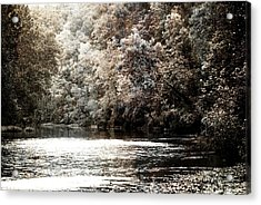 Fall On The Current Acrylic Print by Marty Koch