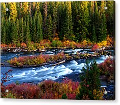 Acrylic Print featuring the photograph Fall On The Deschutes River by Kevin Desrosiers