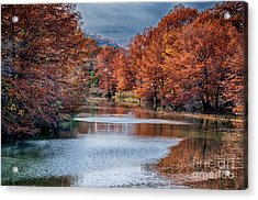 Fall On The Guadalupe Acrylic Print