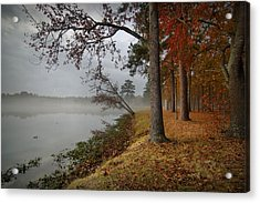 Fall On The Lake Acrylic Print by Linda Unger