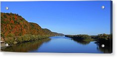 Fall On The Mississippi River  Acrylic Print by Dina Stillwell