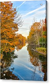 Fall On The Red Cedar  Acrylic Print by Lars Lentz