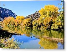 Fall On The Rio Grande Acrylic Print