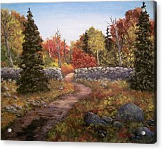 Acrylic Print featuring the painting Fall Path by Megan Walsh