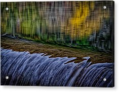 Fall Reflections At Tumwater Spillway Acrylic Print