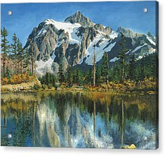 Fall Reflections - Cascade Mountains Acrylic Print