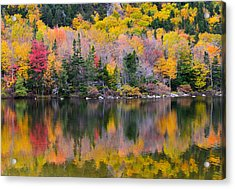 Fall Reflections In Echo Lake Acrylic Print