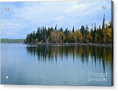 Fall Reflections Acrylic Print by Kathleen Struckle