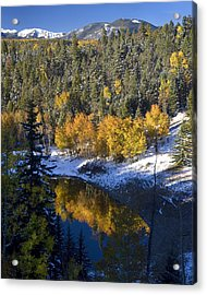 Fall Reflections On Bobcat Pass Acrylic Print