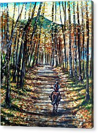 Fall Ride Acrylic Print by Shana Rowe Jackson