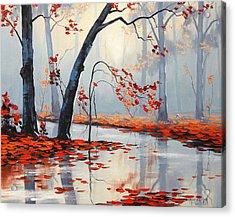 Fall River Painting Acrylic Print