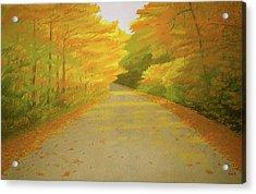 Fall Road Granby Acrylic Print by Bruce Richardson