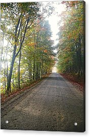 Fall Road Acrylic Print by John Nielsen