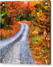 Fall Road To Paradise Acrylic Print by Dan Sproul
