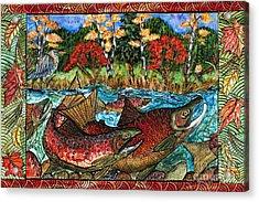 Fall Salmon Acrylic Print