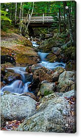 Fall Scene In Nh Acrylic Print